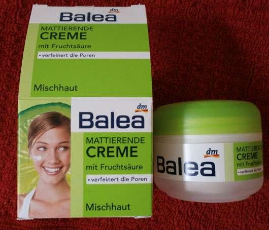 Balea Mattierende Creme mit Fruchstäure (verfeinert die Poren, Mischhaut)