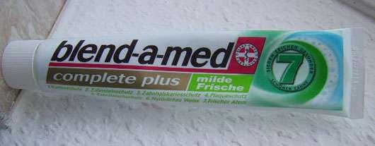 "blend-a-med complete plus ""milde Frische"" Zahncreme"