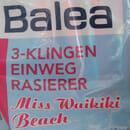 "Balea 3-Klingen Einwegrasierer ""Miss Waikiki Beach"" (LE)"