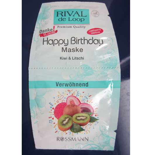Rival de Loop Happy Birthday Maske Kiwi & Litschi (LE)
