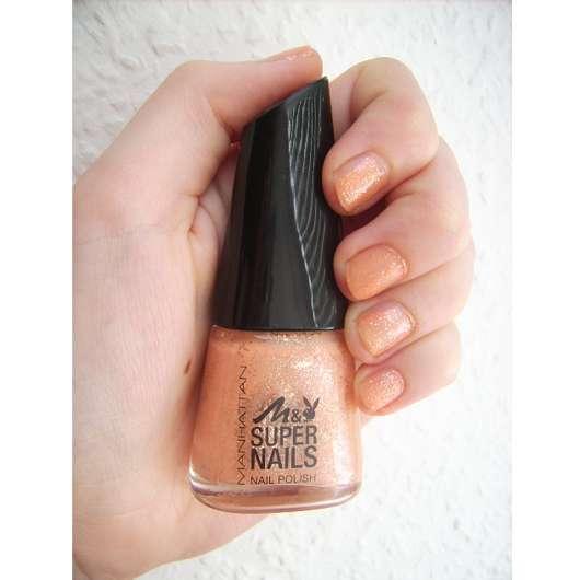 Manhattan Super Nails Nail Polish, Farbe: 06 Nectarine Power (LE)