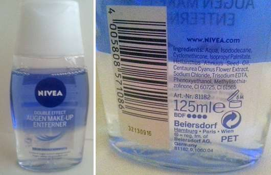 Nivea Double Effect Augen Make-Up Entferner