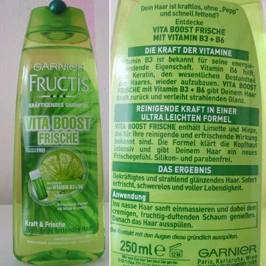 Garnier Fructis Kräftigendes Shampoo Vita Boost Frische (LE)