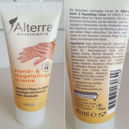 Alterra Hand- & Nagelpflege Creme