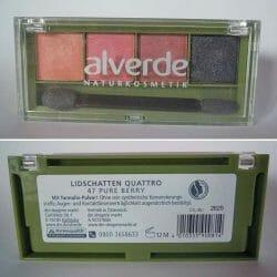 Produktbild zu alverde Naturkosmetik Lidschatten Quattro – Farbe: 47 Pure Berry