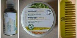 Produktbild zu The Body Shop Rainforest Moisture Set (Shampoo & Conditioner & Haarbutter & Kamm)