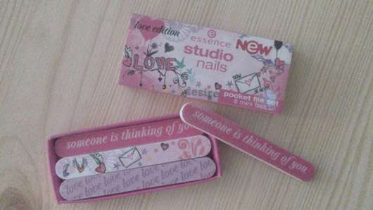 """<strong>essence studio nails</strong> pocket files """"love edition"""""""