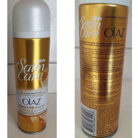 <strong>Gillette Venus</strong> Satin Care Sensitive Rasiergel mit einem Hauch von Olaz
