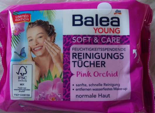<strong>Balea Young Soft & Care</strong> Feuchtigkeitsspendene Reinigungstücher Pink Orchid (LE)