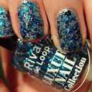 Rival de Loop Luxury Nail Collection, Farbe: 07 Blue Glitter