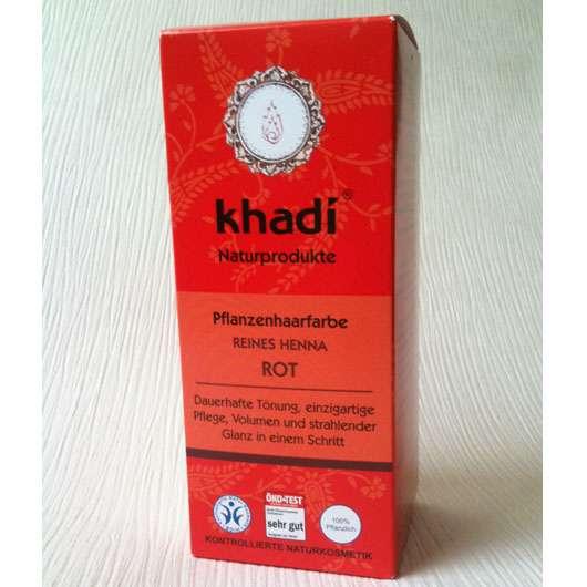 Khadi Pflanzenhaarfarbe Reines Henna Rot