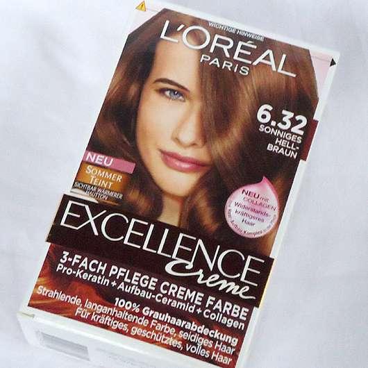 L'Oréal Paris Excellence Crème 3-fach Pflege-Coloration, Farbe: 6.32  Sonniges Hellbraun