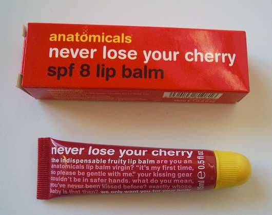 <strong>anatomicals</strong> never lose your cherry spf 8 lip balm