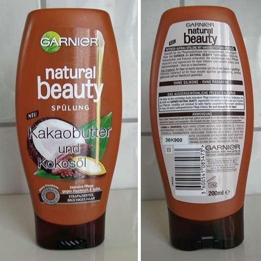 <strong>Garnier Natural Beauty</strong> Spülung Kakaobutter und Kokosöl