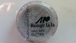 Produktbild zu MANHATTAN Rouge là là Nail Art Glitter – Farbe: 01 Silver Stardust (LE)
