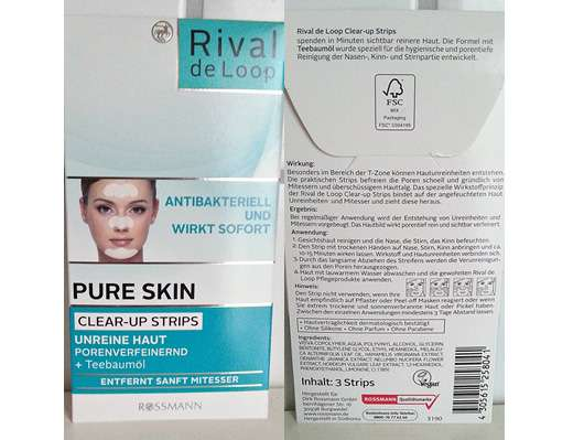 Rival de Loop Pure Skin Clear-up Strips mit Teebaumöl