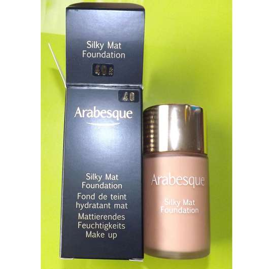 Arabesque Silky Mat Foundation, Farbe: 40 Zimt