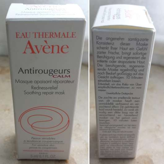 Avène Antirougeurs Calm Redness-relief Soothing repair mask