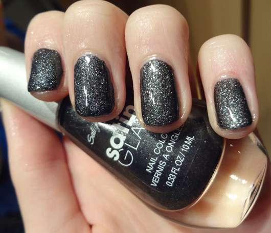 Sally Hansen Satin Glam Nail Color, Farbe: 08 Satin Onyx (LE)
