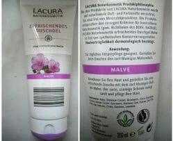 Produktbild zu Lacura Naturkosmetik Erfrischendes Duschgel Malve