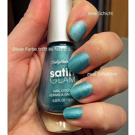 Sally Hansen Satin Glam Nail Color, Farbe: 06 Teal Tulle (LE)