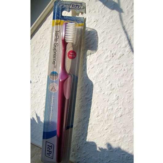 TePe Supreme Soft Zahnbürste, Farbe: dunkles Pink