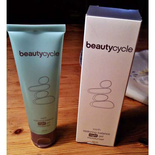 beautycycle earth restoring balance night gel moisturiser