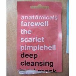 Produktbild zu anatomicals farewell the scarlet pimplehell deep cleansing mud mask
