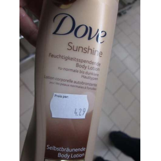 Dove Sunshine Selbstbräunende Bodylotion (normale bis dunklere Hauttypen)