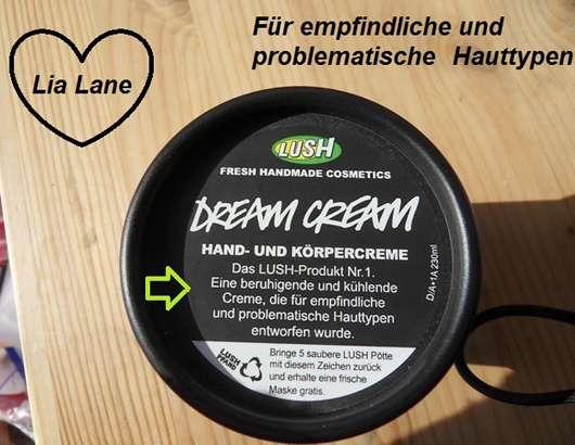 LUSH Dream Cream (Hand- und Körpercreme)