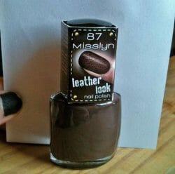 Produktbild zu Misslyn leather look nail polish – Farbe: 87 wild side
