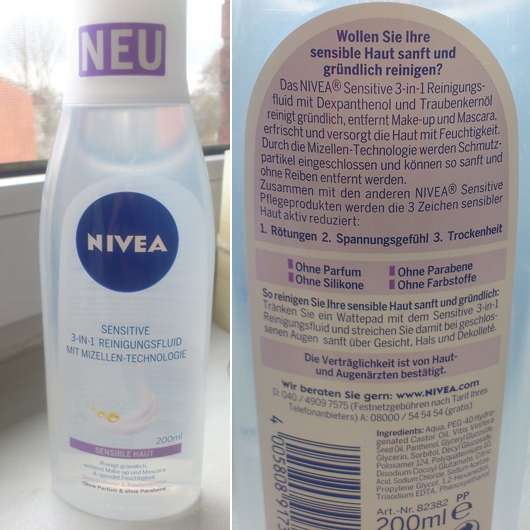 Nivea Sensitive 3-In-1 Reinigungsfluid Mit Mizellen-Technologie