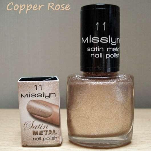 Misslyn Satin Metal nail polish, Farbe: 11 Copper Rose