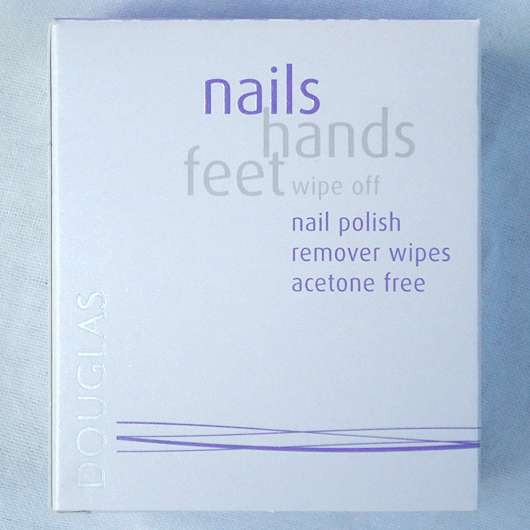 Douglas nails hands feet wipe off nail polish remover wipes