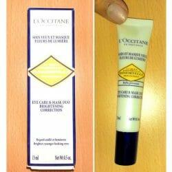 Produktbild zu L'Occitane Immortelle Teintausgleichende 2-in-1 Augenpflege und Maske