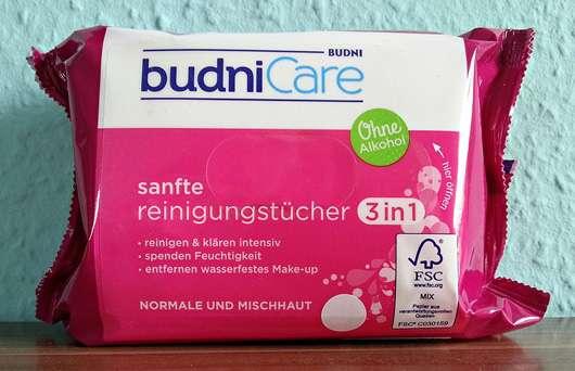 <strong>budniCare</strong> Sanfte Reinigungstücher 3in1 (normale und Mischhaut)