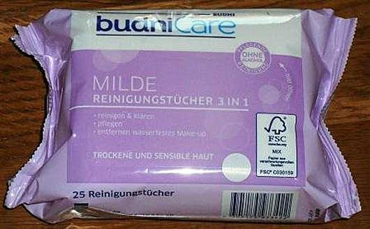 <strong>budniCare</strong> Milde Reinigungstücher 3in1 (trockene und sensible Haut)