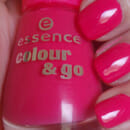 essence colour & go nail polish, Farbe: 107 naughty and pink!