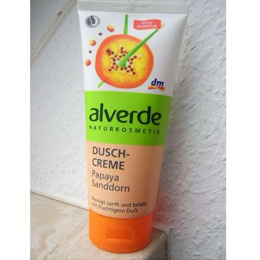 alverde Duschcreme Papaya Sanddorn