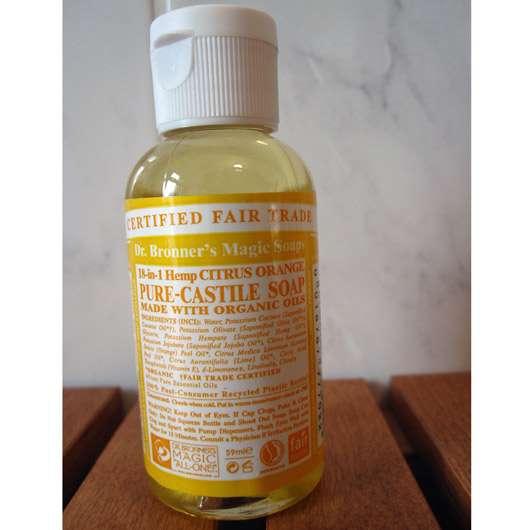 Dr. Bronner's Magic Soaps Pure-Castille Soap Citrus Orange