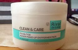 Produktbild zu Rival de Loop Clean & Care Ölhaltige Augen Make-up Entferner Pads (mit Jojobaöl)