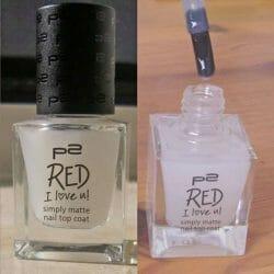 Produktbild zu p2 cosmetics red I love u! simply matte nail top coat (LE)