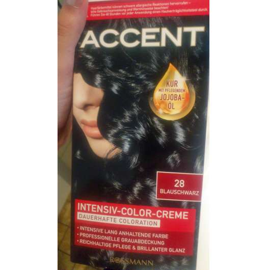 Accent Intensiv-Color-Creme, Farbe: 28 Blauschwarz