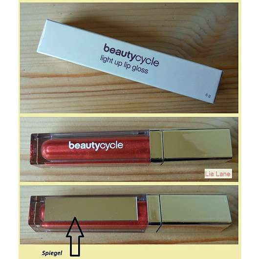 beautycycle light up lip gloss, Farbe: Passion