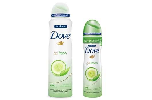 Das neue Dove go fresh Grüner Tee- & Gurkenduft Deodorant