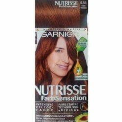 Produktbild zu Garnier Nutrisse FarbSensation Intensive Pflegefarbe – Farbe: 5.54 Warmes Honigbraun