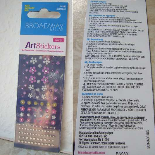 <strong>Broadway Nails</strong> Art Stickers - Design: Daisy