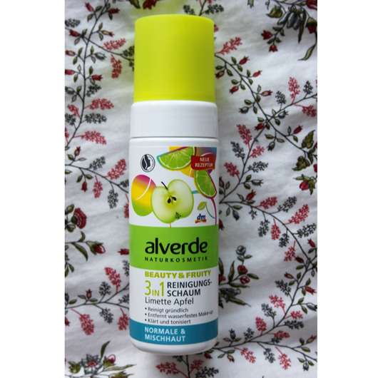 alverde Beauty & Fruity 3in1 Reinigungsschaum Limette Apfel