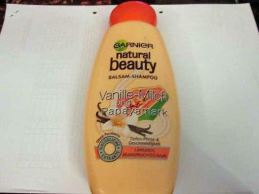 <strong>Garnier Natural Beauty</strong> Balsam-Shampoo Vanille-Milch und Papayamark