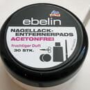 ebelin Nagellack-Entfernerpads acetonfrei fruchtiger Duft (30 Stk.)
